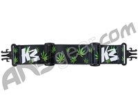 KM Paintball Grill Goggle Strap - Green Leaf (Green)