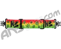 KM Paintball Grill Goggle Strap - Green Leaf (Rasta)