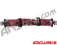 KM Paintball Grill Goggle Strap - Limited Edition Joker Red