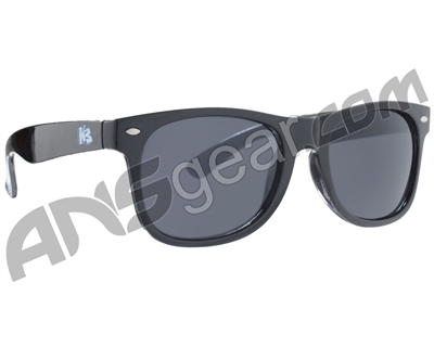 KM Paintball Sunglasses - Black w/ Smoke Lenses