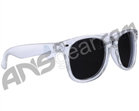 KM Paintball Sunglasses - Clear w/ Mirror Lenses