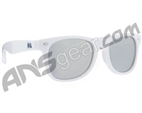 KM Paintball Sunglasses - White w/ Mirror Lenses