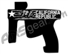Laser Engraved Gun Design - Cali
