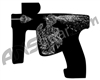 Laser Engraved Gun Design - Headshot