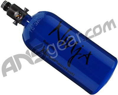 Ninja Flat Bottom Compressed Air Tank w/ Adjustable Regulator - 48/3000 - Gloss Blue
