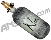 Ninja Lite Carbon Fiber Air Tank - 45/4500 w/ All Brass Pro V2 Regulator - Grey Ghost