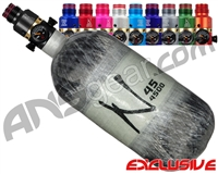 Ninja Lite Carbon Fiber Air Tank - 45/4500 w/ Pro V2 Ultralite Regulator - Grey Ghost