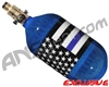 Ninja Lite Carbon Fiber Air Tank - 68/4500 w/ (SLX) All Brass Pro V2 Regulator - SE Blue Lives