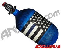 Ninja Lite Carbon Fiber Air Tank - 68/4500 w/ Adjustable Regulator - SE Blue Lives