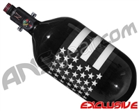 Ninja Lite Carbon Fiber Air Tank - 68/4500 w/ Adjustable Regulator - SE Black/White Flag