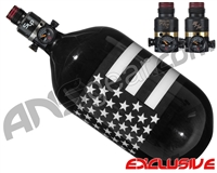 Ninja Lite Carbon Fiber Air Tank - 68/4500 w/ Pro V2 Series Regulator - SE Black/White Flag