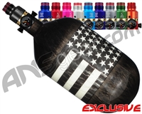 Ninja Lite Carbon Fiber Air Tank - 68/4500 w/ Pro V2 Ultralite Regulator - SE Black/White Flag