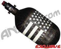 Ninja Lite Carbon Fiber Air Tank - 68/4500 w/ Ultralite Regulator - SE Black/White Flag