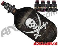 Ninja Lite Carbon Fiber Air Tank - 68/4500 w/ Pro V2 Series Regulator - SE Jolly Roger