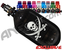 Ninja Lite Carbon Fiber Air Tank - 68/4500 w/ Pro V2 Ultralite Regulator - SE Jolly Roger
