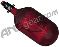 Ninja Lite Carbon Fiber Air Tank - 68/4500 w/ Ultralite Regulator - Translucent Red
