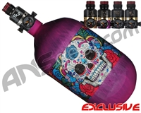 Ninja Lite Carbon Fiber Air Tank - 68/4500 w/ Pro V2 Series Regulator - SE Sugar Skull Purple