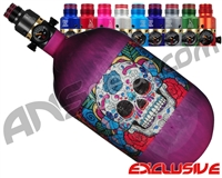 Ninja Lite Carbon Fiber Air Tank - 68/4500 w/ Pro V2 Ultralite Regulator - SE Sugar Skull Purple