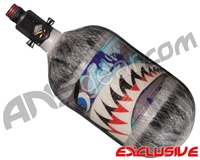 Ninja Lite Carbon Fiber Air Tank - 68/4500 w/ Adjustable Regulator - SE Warhawk Arctic (Grey)