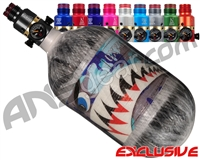 Ninja Lite Carbon Fiber Air Tank - 68/4500 w/ Pro V2 Ultralite Regulator - SE Warhawk Arctic (Grey)