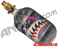 Ninja Lite Carbon Fiber Air Tank - 68/4500 w/ (SLX) All Brass Pro V2 Regulator - SE Warhawk Cotton Candy (Grey)