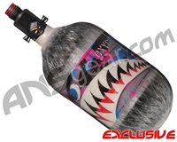 Ninja Lite Carbon Fiber Air Tank - 68/4500 w/ Adjustable Regulator - SE Warhawk Cotton Candy (Grey)