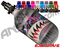 Ninja Lite Carbon Fiber Air Tank - 68/4500 w/ Pro V2 Ultralite Regulator - SE Warhawk Cotton Candy (Grey)