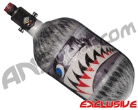 Ninja Lite Carbon Fiber Air Tank - 68/4500 w/ Adjustable Regulator - SE Warhawk Grey