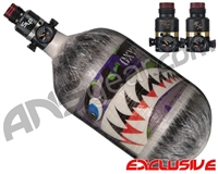 Ninja Lite Carbon Fiber Air Tank - 68/4500 w/ Pro V2 Series Regulator - SE Warhawk Joker (Grey)