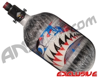 Ninja Lite Carbon Fiber Air Tank - 68/4500 w/ Adjustable Regulator - SE Warhawk Murica (Grey)