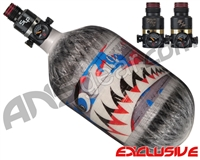 Ninja Lite Carbon Fiber Air Tank - 68/4500 w/ Pro V2 Series Regulator - SE Warhawk Murica (Grey)
