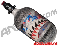 Ninja Lite Carbon Fiber Air Tank - 68/4500 w/ Ultralite Regulator - SE Warhawk Murica (Grey)