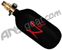 Ninja SL2 Carbon Fiber Air Tank - 45/4500 w/ All Brass Pro V2 Regulator - Black/Red