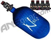 Ninja SL2 Carbon Fiber Air Tank - 68/4500 w/ Pro V2 Series Regulator - Blue