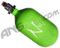 Ninja SL2 Carbon Fiber Air Tank - 68/4500 w/ Ultralite Regulator - Lime