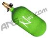 Ninja SL2 Carbon Fiber Air Tank - 77/4500 w/ All Brass Pro V2 Regulator - Lime