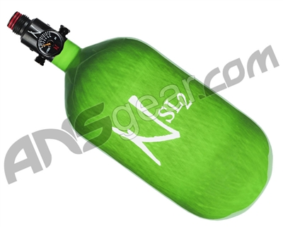 Ninja SL2 Carbon Fiber Air Tank - 77/4500 w/ Adjustable Regulator - Lime