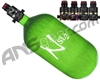 Ninja SL2 Carbon Fiber Air Tank - 77/4500 w/ Pro V2 Series Regulator - Lime
