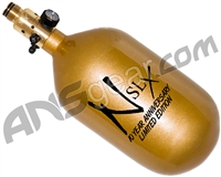 Ninja SLX Carbon Fiber Air Tank - 68/4500 w/ All Brass Pro V2 Regulator - 10th Anniversary Gold