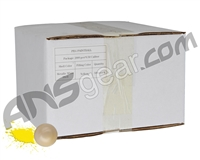 D3FY Sports White Box 2,000 Round Paintball Case - White Shell Yellow Fill ( .50 Caliber )