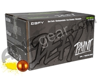 D3FY Sports Level 1 Practice 100 Round Paintballs - Brown Shell Yellow Fill ( .68 Caliber )