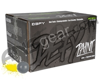 D3FY Sports Level 1 Practice Paintball Case 500 Rounds - Battleship Grey Shell Yellow Fill