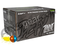 D3FY Sports Level 1 Practice 100 Round Paintballs - Copper/Blue Shell Yellow Fill ( .68 Caliber )