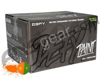 D3FY Sports Level 1 Practice 100 Round Paintballs - Green/Orange Shell Orange Fill ( .68 Caliber )