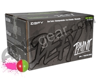 D3FY Sports Level 1 Practice 100 Round Paintballs - Light Green/Pink Shell Pink Fill ( .68 Caliber )