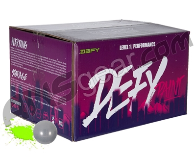 D3FY Sports Level 1 Practice 100 Round Paintballs - Grey Shell Green Fill ( .68 Caliber )