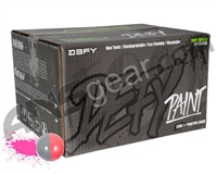 D3FY Sports Level 1 Practice 500 Round Paintballs - Grey/Pink Shell Pink Fill ( .68 Caliber )