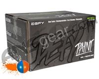 D3FY Sports Level 1 Practice 500 Round Paintballs - Orange/Blue Shell Orange Fill ( .68 Caliber )