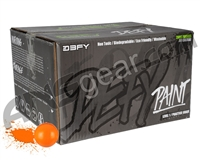 D3FY Sports Level 1 Practice 100 Round Paintballs - Orange Shell Orange Fill ( .68 Caliber )