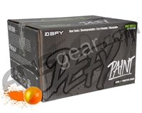 D3FY Sports Level 1 Practice 500 Round Paintballs - Orange/Yellow Shell Orange Fill ( .68 Caliber )